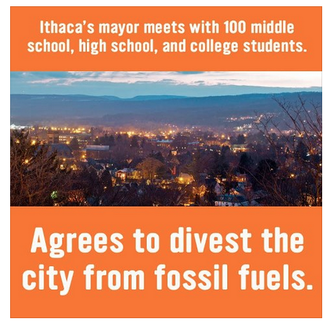 Divest Ithaca, NY from Fossilized Fuels