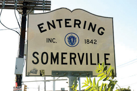 Entering Somerville street sign