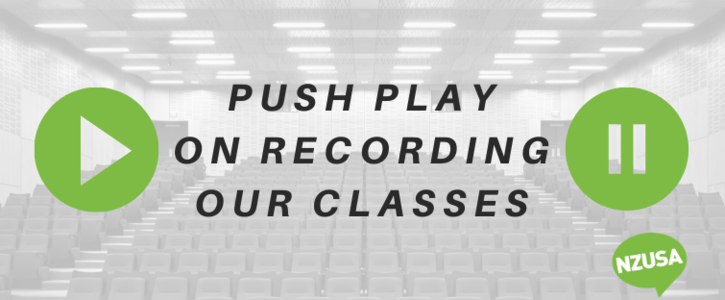 Record our classes in response to COVID-19