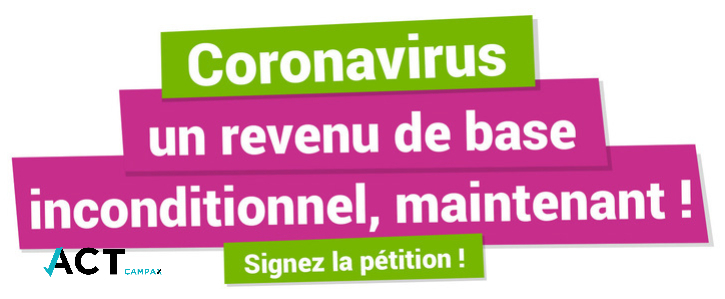 Coronavirus : un revenu de base inconditionnel, maintenant !