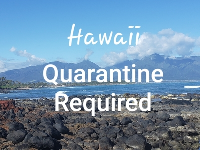 Mandate quarantine for people arriving in Hawaii