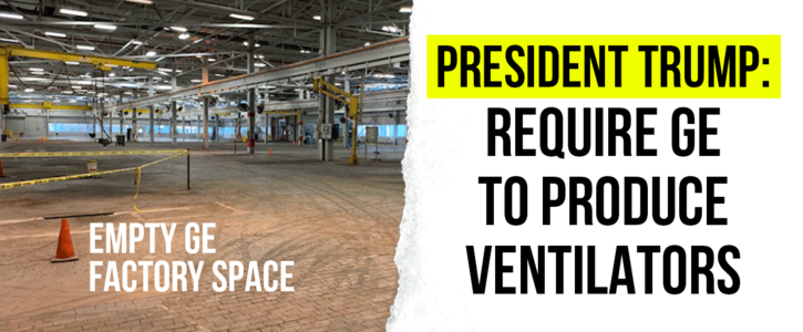 Tell Trump GE workers are waiting to make ventilators right now!