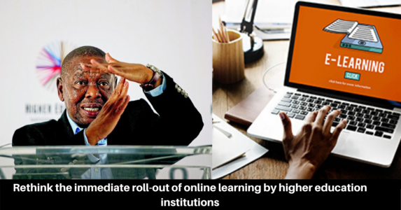 Rethink the immediate roll-out of online learning by higher education institutions