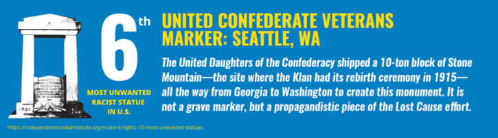 Removal of United Confederate Veterans Memorial in Seattle's Capitol Hill Lake View Cemetery