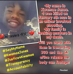 Justice and Bodycam footage for Kwamae Jones