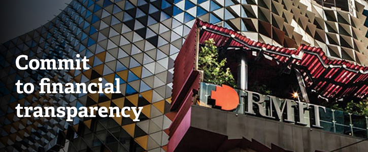 Commit to Open Governance and Financial Transparency,  RMIT!