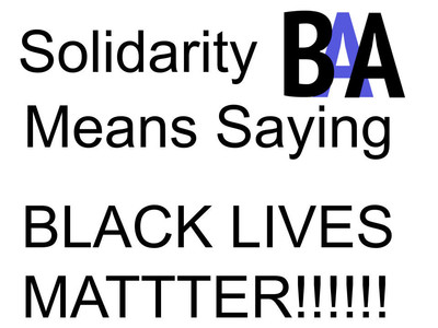 """Say the words! Solidarity means saying """"Black Lives Matter"""""""