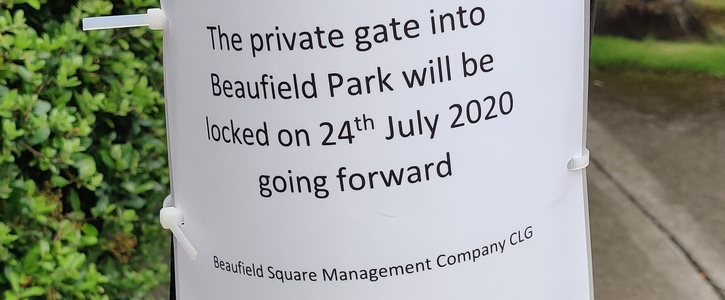 Reopen the Beaufield Manor public pathway