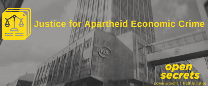 #ApartheidBanks: Justice for Apartheid Economic crime