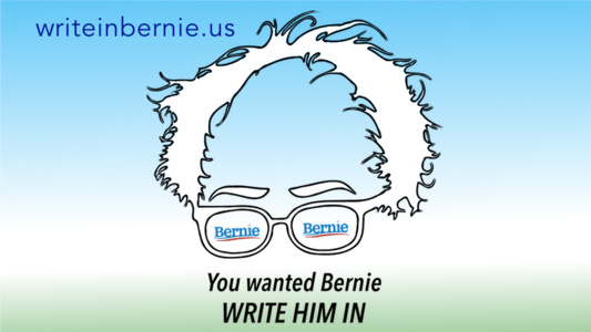 Write-in Bernard Sanders for President