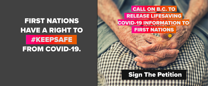 Stand with First Nations to #KeepSafe from COVID-19