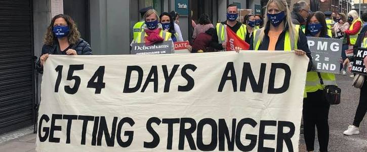 I stand with the Debenhams Workers