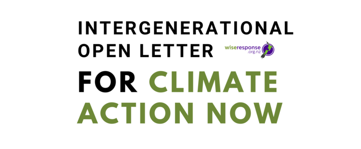 Intergenerational Open Letter for Climate Action Now