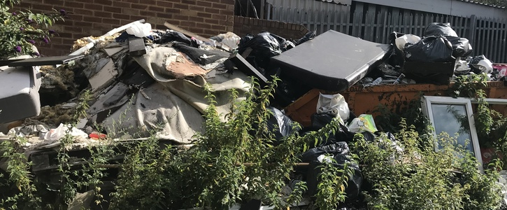 Fly tipping and illegal dumping in Whitton