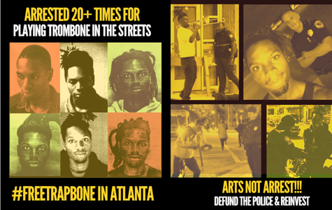 #FreeTrapbone in Atlanta and DefundthePolice for Arts Over Arrests
