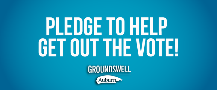 I pledge to help get out the vote!