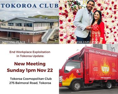 End work place exploitation in Tokoroa now