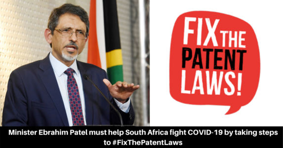 Minister Patel must make COVID-19 medicines accessible to all by taking steps to #FixThePatentLaws