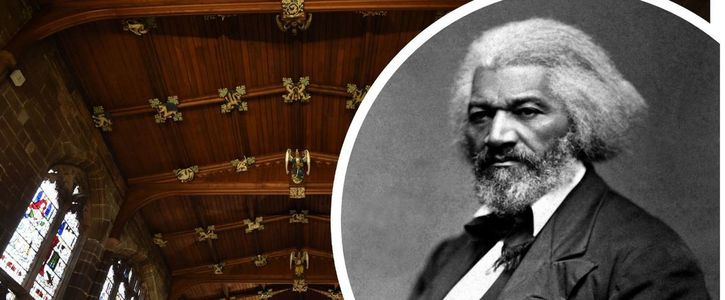 Plaque to commemorate Frederick Douglass 1847 visit to Coventry