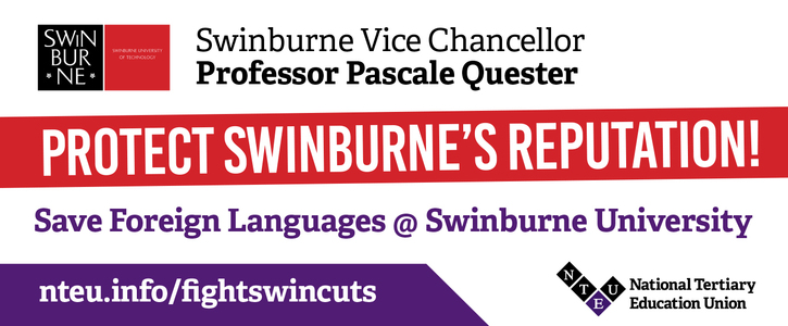 Save Foreign Languages @ Swinburne University and protect Swinburne's Reputation