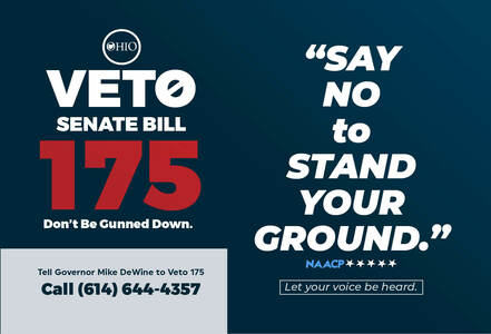 Gov. DeWine ... VETO   SB 175 (Stand Your Ground, Shoot First Law)