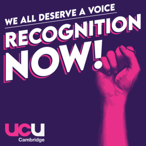 Union recognition for all Cambridge University staff