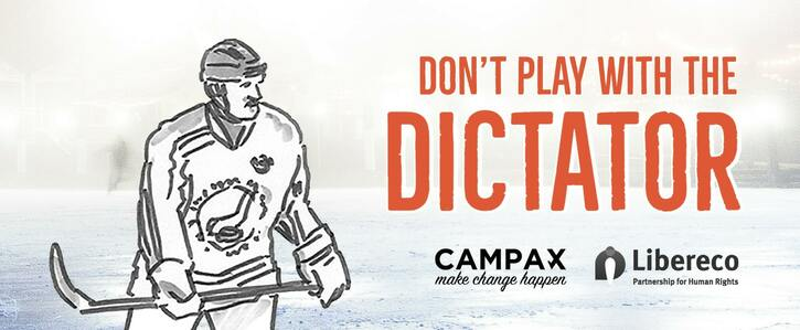 Don't play with the dictator - boycott the Ice Hockey World Cup in Belarus