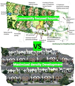 Promote sustainable community focused housing over disconnected housing developments