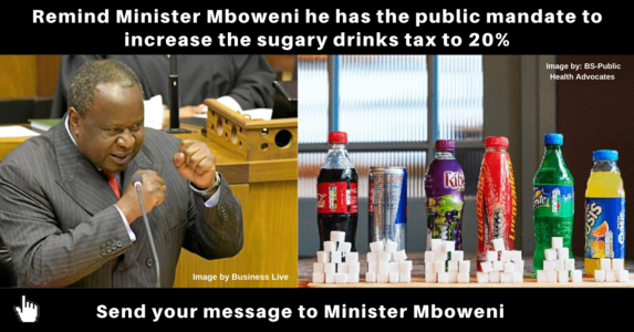 Tell Minister Mboweni a 20% sugary drinks tax is long overdue