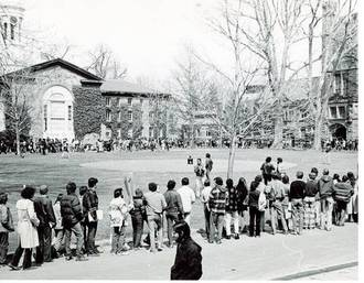 Princeton divestment marches spring 1978