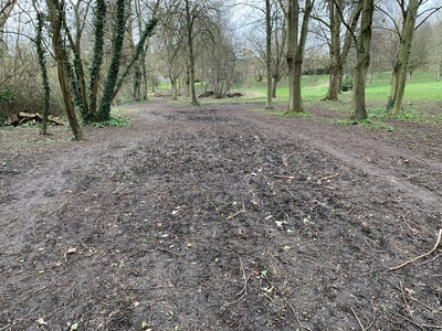 Improve the footpaths around our local park
