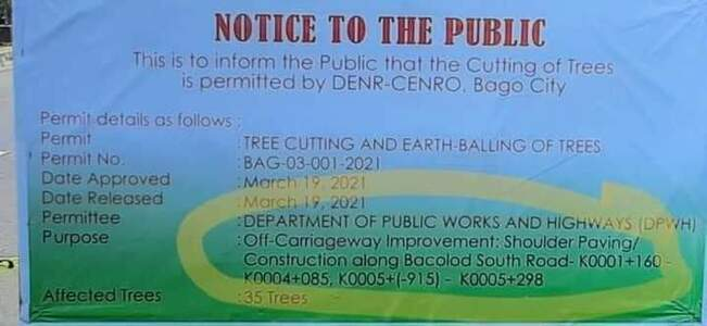 STOP the cutting of trees along Bacolod Old Airport, Araneta st.