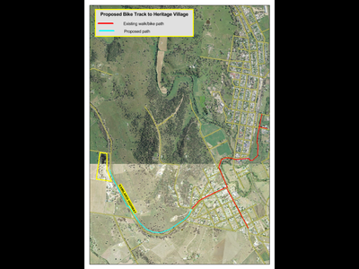 Extend Quirindi's walking/cycling paths to the Heritage Village