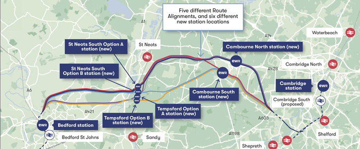 Cancel the planned East-West railway from Oxford to Cambridge