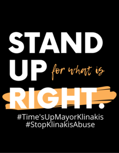 Mayor Klinakis: Confront Sexual Harassment, Assault and other lawlessness at City Hall
