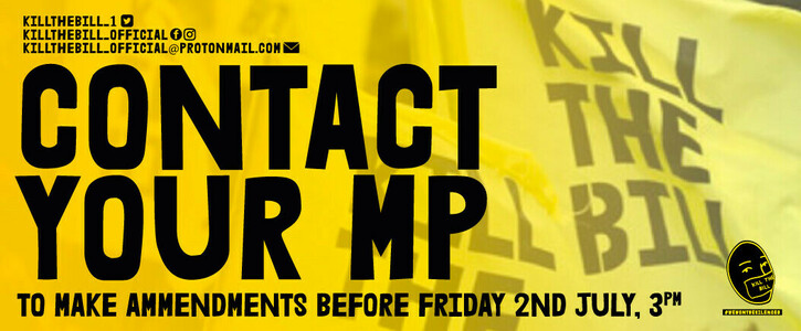 Urgent! Ask Your MP To Sign These Amendments to The Police Bill By Friday 2nd July at 3pm!