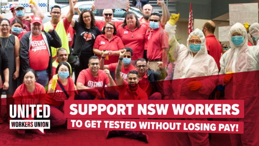 Support NSW workers to get tested without losing pay!