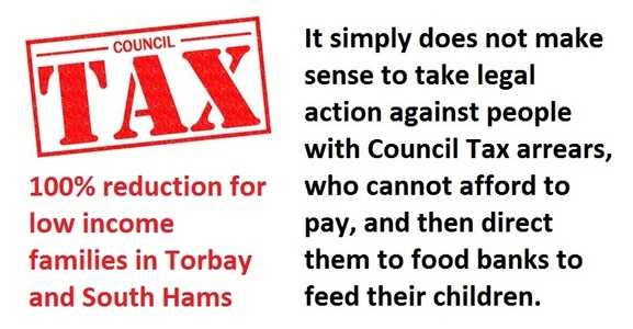 100% Council Tax Reduction for people on low incomes in Torbay and South Hams