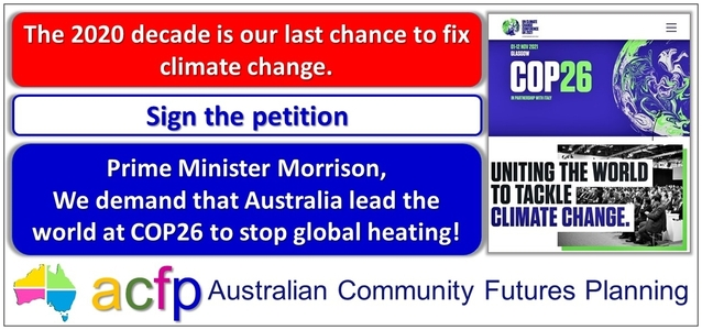 Demand that Australia lead the world at COP26 to stop global heating