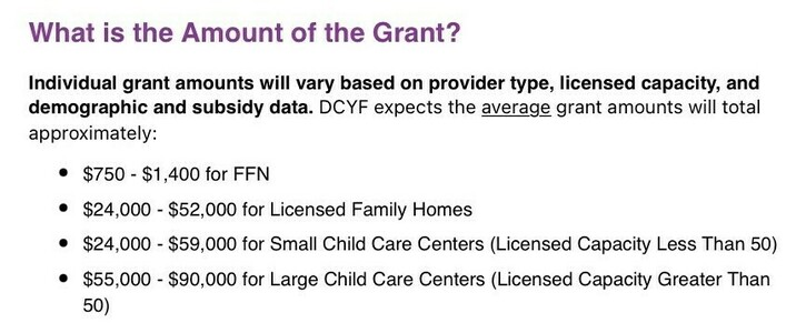 Child Care Stabilization Grant - Equal Funds For ALL!