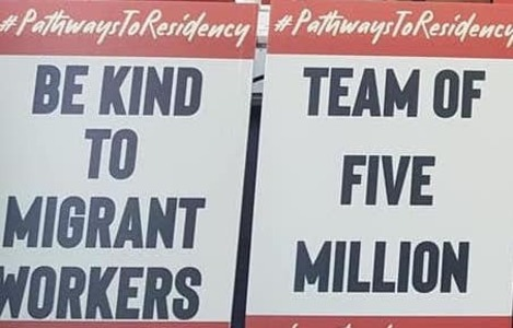 Sign: Kindness for temp workers