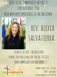MAY 19: NIA Worship Experience to Affirm Our Love of God and the Stranger
