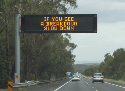 Slow By 30 law needed to protect People Involved In or Assisting at a Road Incident or Crash!