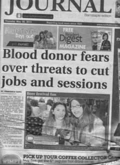 Changes to Blood doning sessions