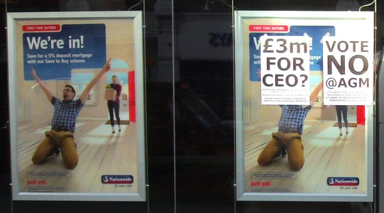 Reject bonuses and obscene executive pay at Nationwide Building Society