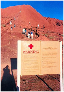 Stop people walking on Uluru