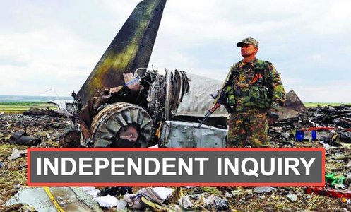 Call For Independent Inquiry of the Airplane Crash in Ukraine and its Catastrophic Aftermath