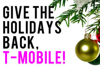 T-Mobile, eliminate mandatory work on Christmas Day!