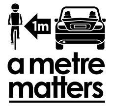 Give bikes 1-metre of room when passing