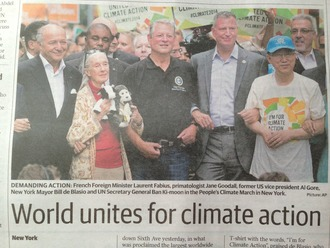 GIVE US OUR PLACE GLOBALLY ON CLIMATE ACTION